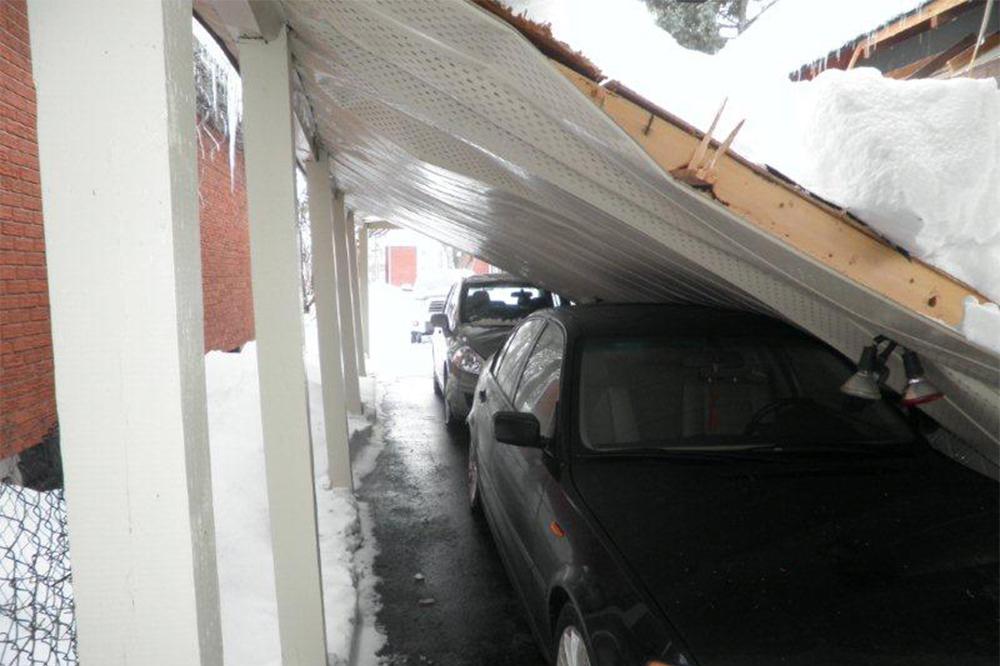 Fallen carport
